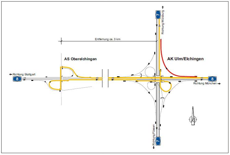 По информации, поступившей в МСАТ из немецкой ассоциации BGL, в связи с дорожными работами съезд с автомагистрали А7...